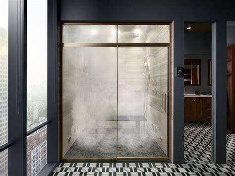 glass door trim options shower door guide bathroom kohler