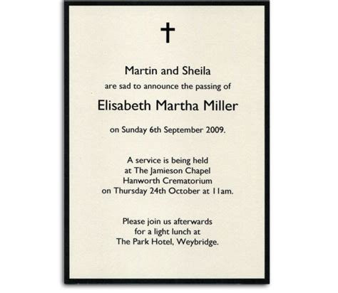 funeral announcement cards templates funeral announcement template shatterlion info