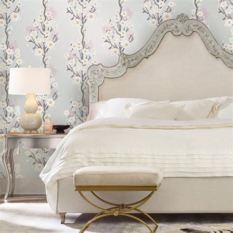 tempaper removable wallpaper tempaper botanical blossom wallpaper bo510 the home depot