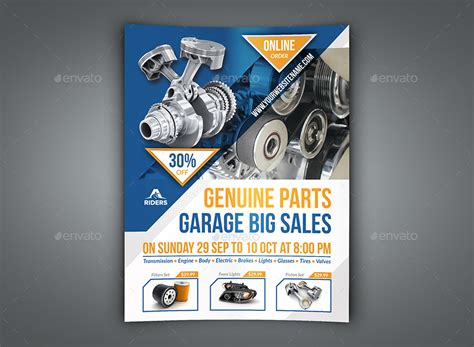 Auto Parts Flyer Templates