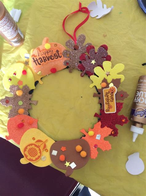harvest craft ideas for harvest fall wreath sunday school craft michael s