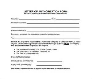 Authorization Letter Legal Forms sample letter of authorization form example 8 download free