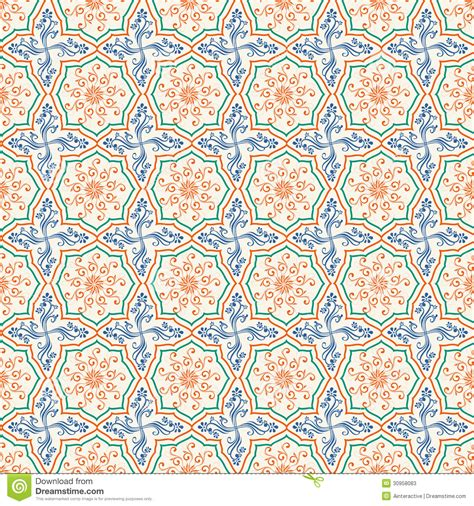 islamic ornamentation pattern arabic or islamic ornaments pattern stock illustration