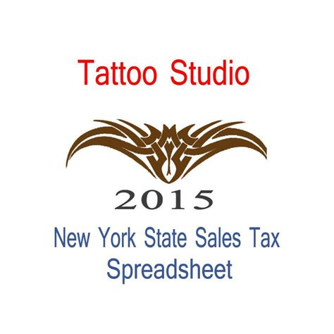 new york state tattoo studio accounts sales tax
