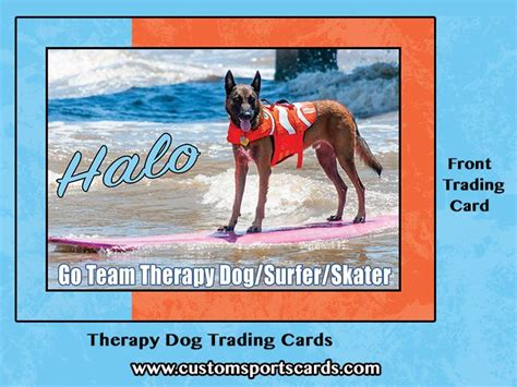 therapy trading cards template 79 best therapy dogs canine images on