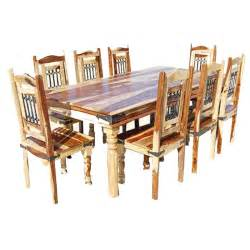 wood dining room set dallas classic solid wood rustic dining room table and chair set