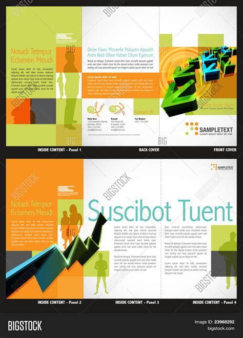 brochure layout sles ideas tri fold brochure layout design vector photo bigstock