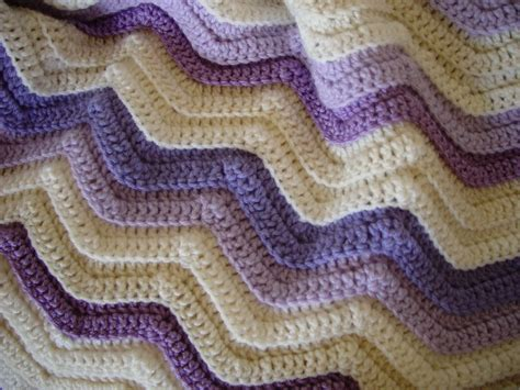 free knitted ripple afghan pattern single crochet ripple afghan crochet club