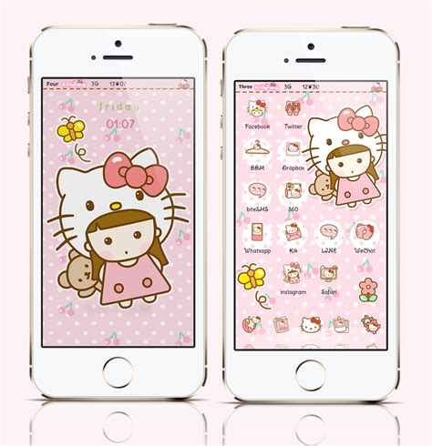 theme hello kitty cho iphone 5 kitty fang