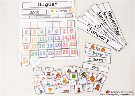 kid calendar template free printable calendar for circle time with