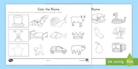 words that rhyme with colors color the rhyme worksheet rhyming words word families