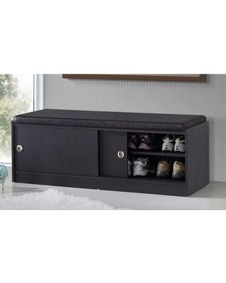 modern shoe storage bench baxton studio ashby modern and contemporary dark espresso