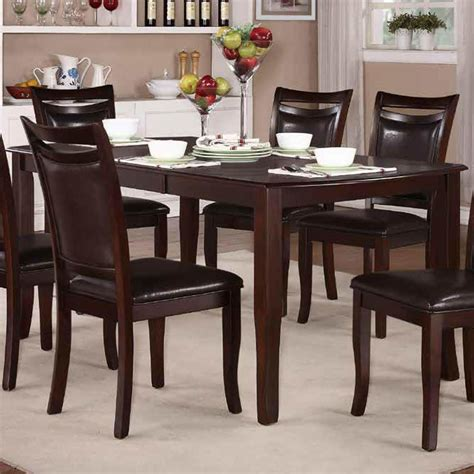 dining room set 7 piece homelegance maeve 7 piece extension dining room set in