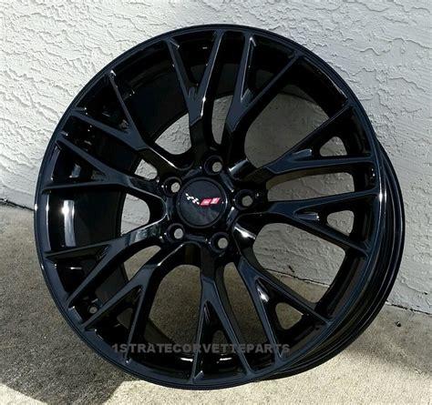 corvette c5 black wheels new c7 z06 gloss black corvette wheels 18 19 quot combo c5