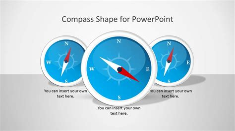 Compass Shape For Powerpoint Slidemodel Powerpoint Template For