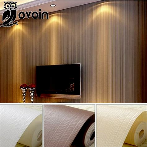striped bedroom walls tjihome aliexpress com buy modern solid plain stripe flocked non
