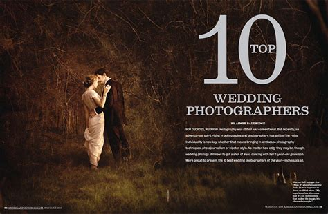Top Wedding Photographers by Andrena Photography Named One Of The Top 10 Wedding