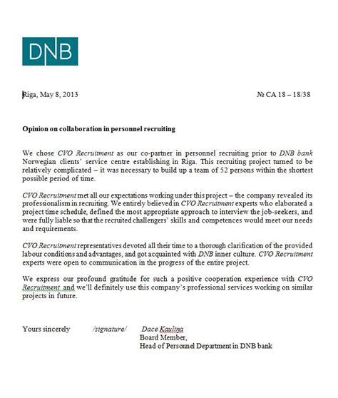 Reference Letter Opening employer reference letter sle for bank cover letter