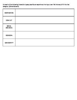 Sociology Worksheets by Sociology Social Interaction Worksheet By Eckstein S