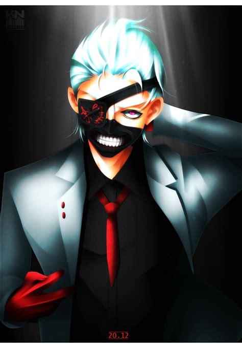 Kaos Tokyo Ghoul Ken Kaneki Mask Aogirikaneki Re Spade Anime kaneki ken tokyo ghoul re 105 white suit by kuronick arts on deviantart