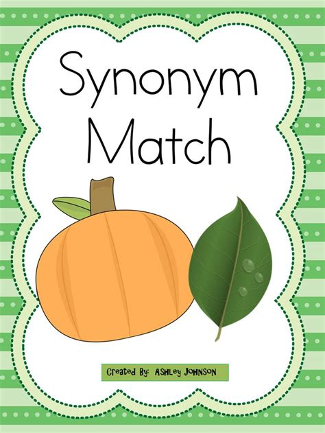 theme for synonym synonym match halloween theme activities literacy