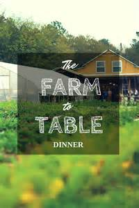 the farm to table dinner home is here