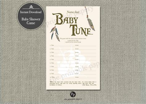 Name That Tune Baby Shower by Printable Name That Baby Tune Baby Shower