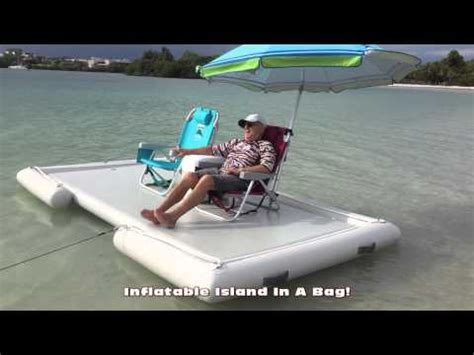 buy a boat put out or swim inflatable island swim platform youtube