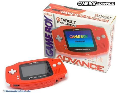 gameboy advance console gameboy advance console limited target edition