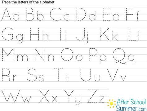 alphabet letter tracing templates printable traceable alphabet chart for and lower