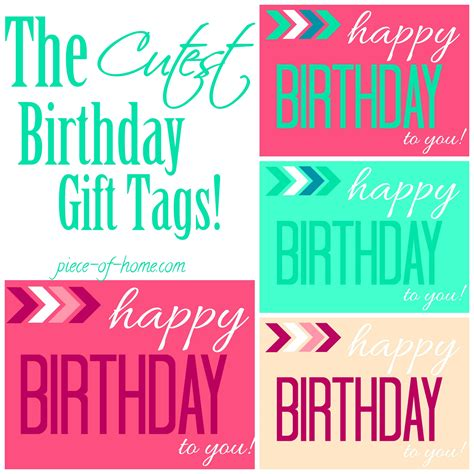 Printable Birthday Gift Tags Cards - printable birthday gift tags templates christmas fun zone