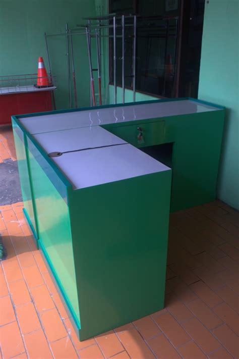 Meja Kasir Kayu meja kasir minimarket bahan kayu