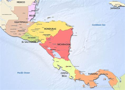 Cenral America Map by Pics Photos Political Map Of Central America