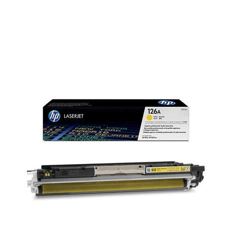 Toner Hp 126a Yellow hp 126a yellow toner cartridge ce312a
