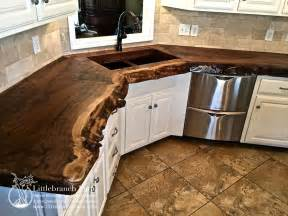 Wood Countertops Kitchen Branch Farms Rustic Real Wood Countertop I Want Kitchen Ideas Real