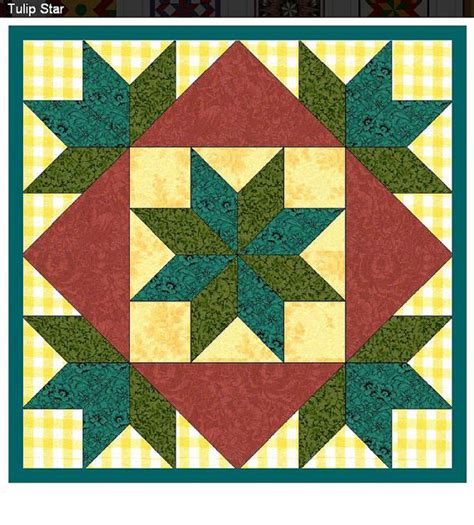 Light weight easy to install tulip star barn quilt with free