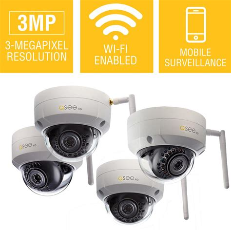 q see 3mp wi fi wireless indoor outdoor dome security