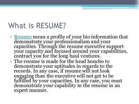 what does profile on resume resume ideas