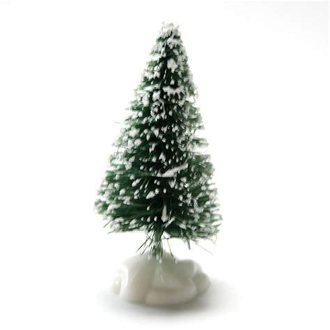 snowy bristle christmas tree decoration 6cm squires