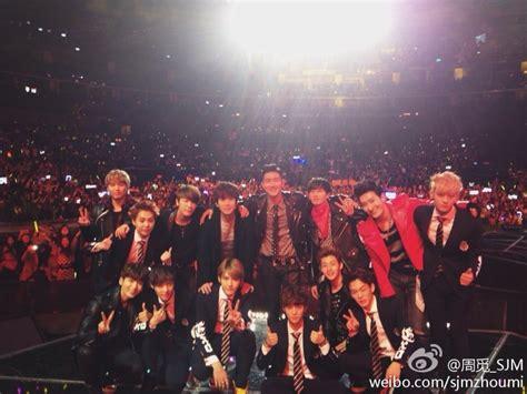 exo concert indonesia other 140101 super junior m zhoumi s weibo update sj m