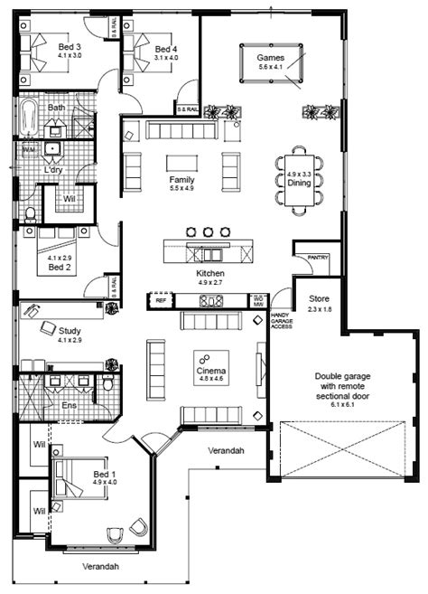 House Floor Plan Elevation V1 House Plansn1 Pinterest 2 Bedroom House Designs Australia