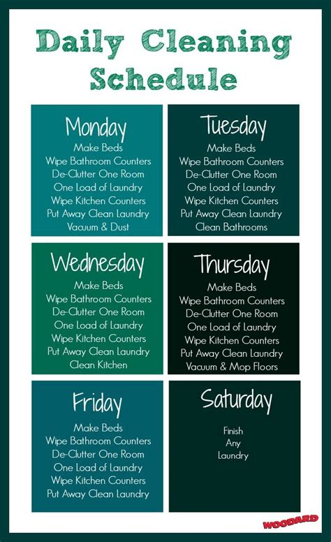 printable daily cleaning schedule daily cleaning schedule add two more laundry loads each