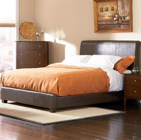 King Bed by Coaster 201150kw Brown California King Size Leather Bed A Sofa Furniture Outlet Los
