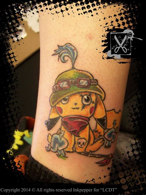 tattoo league teemo pikachu league of legends