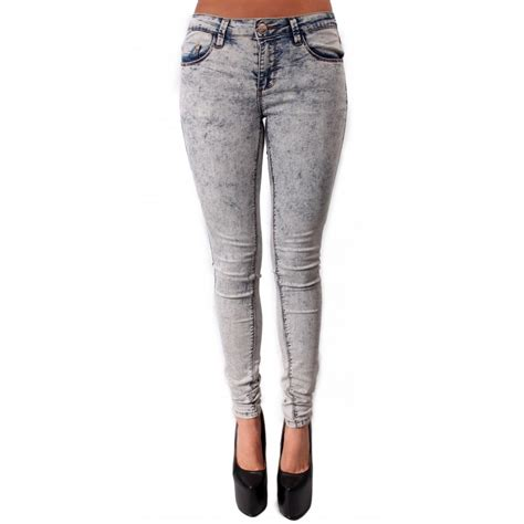 light wash skinny jeans teegan light acid wash skinny jeans from parisia fashion
