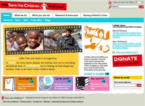 8 tips to design a charity website webdesigner depot
