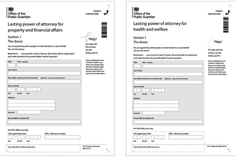 power of attorney uk template lasting power of attorney forms uk agentsbittorrent