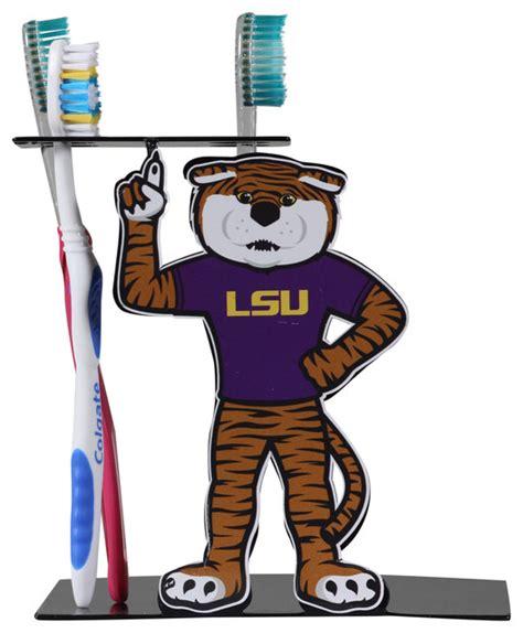 lsu bathroom accessories louisiana state mascot toothbrush holder