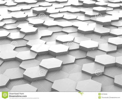 Hexagonal Abstract 3d Background Stock Background Of 3d White Hexagon Blocks Stock Illustration