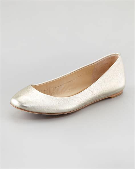 wang flat shoes vera wang lavender lara ballerina flat platinum in